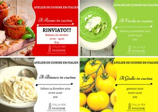 Stages,cours Atelier Cuisine Italien