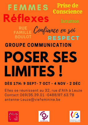 Stages,cours Groupe Communication Poser limites
