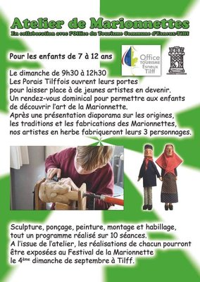 Stages,cours Atelier Marionnettes