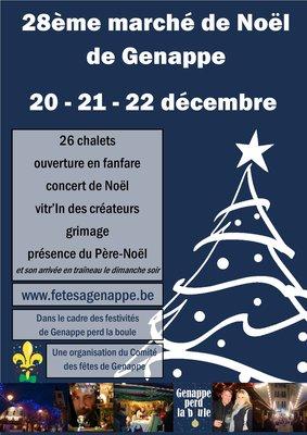 Marchés de Noël 28ème marché Noël Genappe / Genappe perd boule