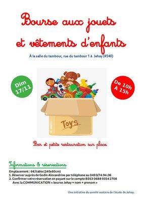 Loisirs Bourse jouets vêtements d enfants