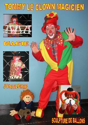 Clown rigolo pour enfants - humour magie ballons...