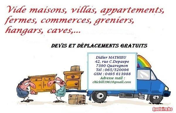 Vide habitations, apparts, fermes, commerces,...