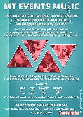Concerts & Evenementiel privés & publics.