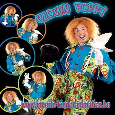 Verjaardag- commuinie- lentefeest met Clown Poppy