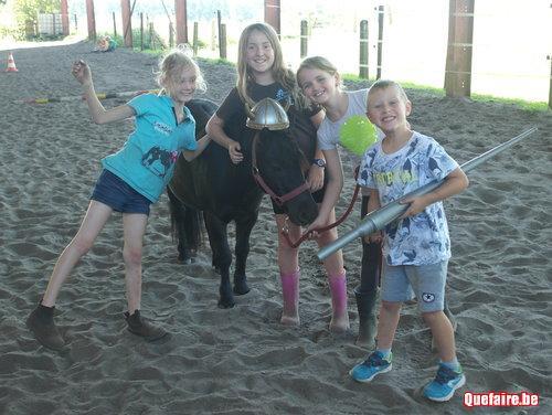 Anniversaire à Hippodyssée avec nos poneys et...
