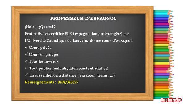 Professeur d'espagnol