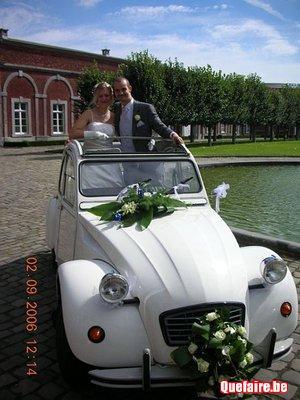 Voiture pour mariage (avec chauffeur)