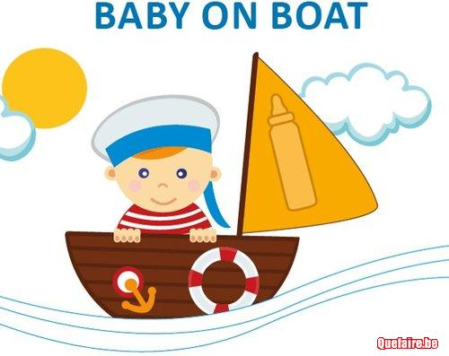Baby on boat crèche Evere