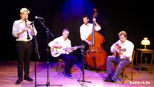 Un groupe de jazz swing manouche à Bruxelles