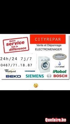 Dépannage / Réparation électroménagers 0467711887