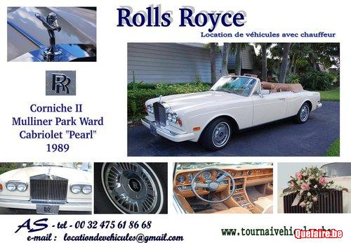 Location Rolls Royce Corniche II décapotable...