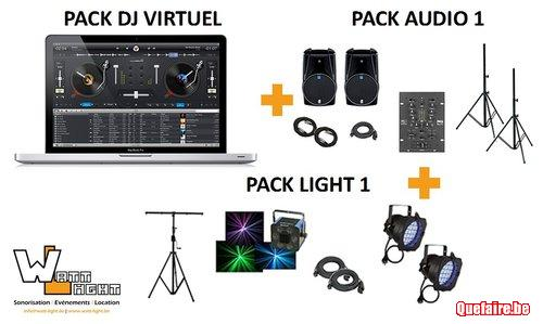 DJ Virtuel avec audio et light - 125  - Watt-Light