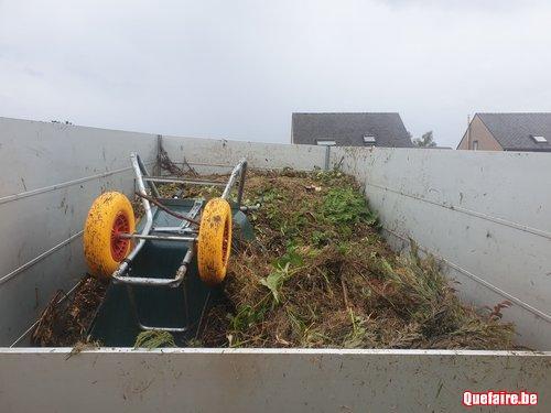 évacuation de déchets verts
