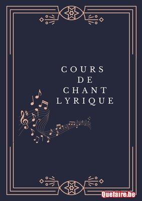 Cours de chant lyrique