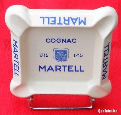 Vintage ancien cendrier Cognac Martell  1715