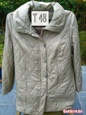 Mayerline – longue veste matelassée beige t48 / 50