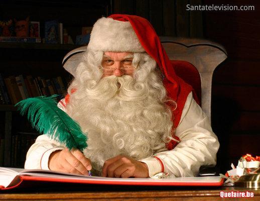 Saint-Nicolas ou Père Noël chez vous .