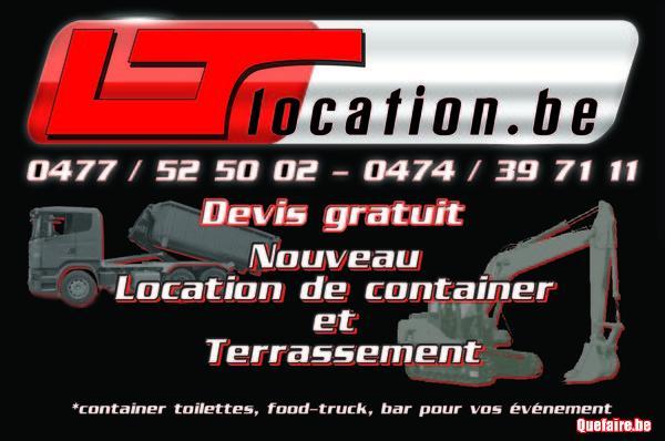 Terrassement et location de container
