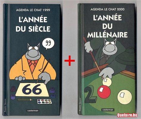 Le Chat ~  lot de 2 mini agendas : 1999 + 2000 -...