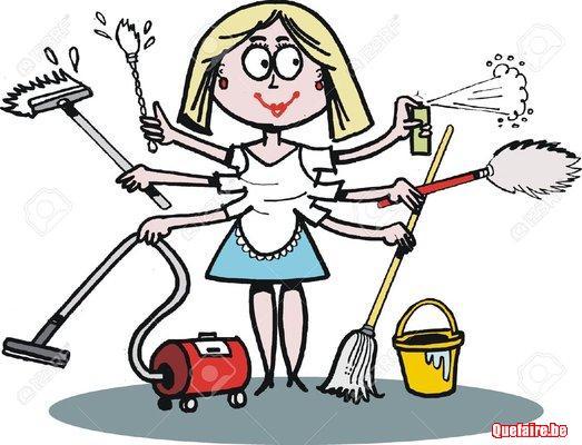 Technicienne de surface, service de nettoyage de...