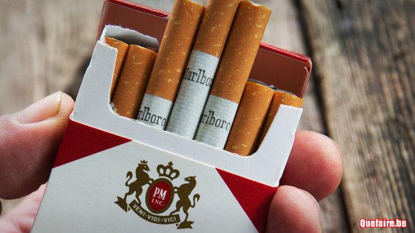 Paquets de cigarettes Marlboro à 3.5 euros